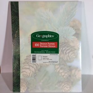 Geographics Design Paper Evergreen 100 Sheets
